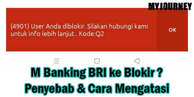M Banking BRI ke Blokir