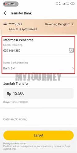 Masukkan Data Transfer