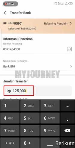 Masukkan Nominal Transfer 4
