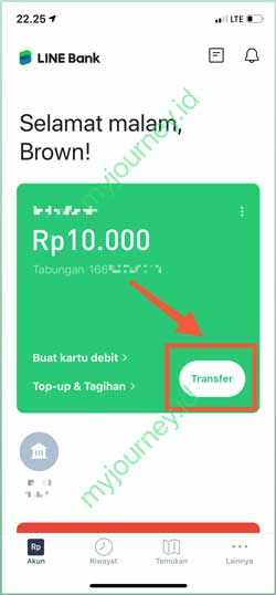 Pilih Menu Transfer