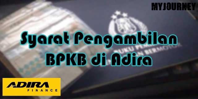 Syarat Pengambilan BPKB di Adira
