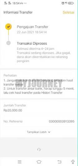 Transfer Berhasil 2