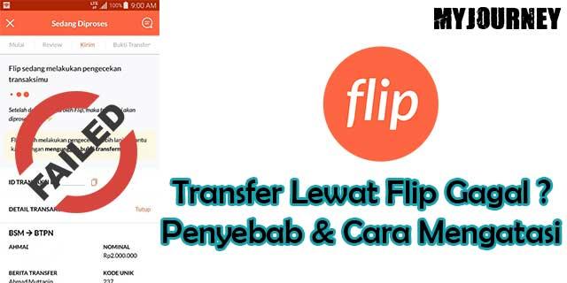 Transfer Lewat Flip Gagal