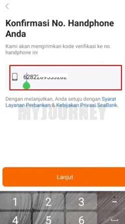 Konfirmasi Nomor Handphone
