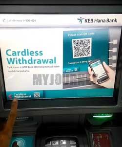 Kunjungi ATM KEB Hana Bank