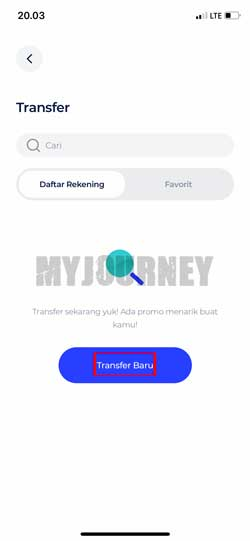 Pilih Transfer Baru