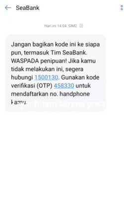 Salin Kode OTP