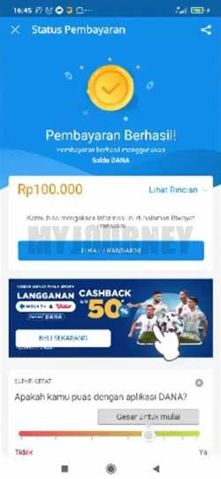 Top Up Bank Jago Lewat DANA Berhasil
