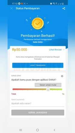 Top Up SeaBank Lewat DANA Berhasil