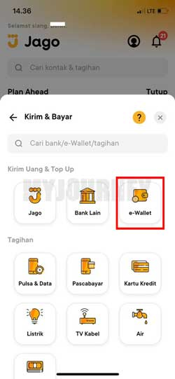Pilih E Wallet
