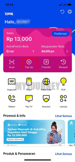 Buka Aplikasi AstraPay 2