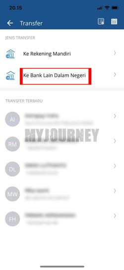 Pilih ke Rekening Bank Lain